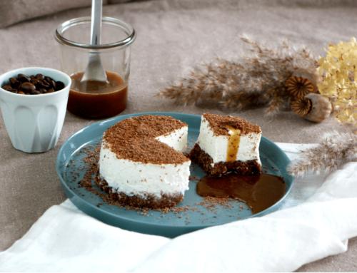 Cheesecake au fromage frais et caramel au café